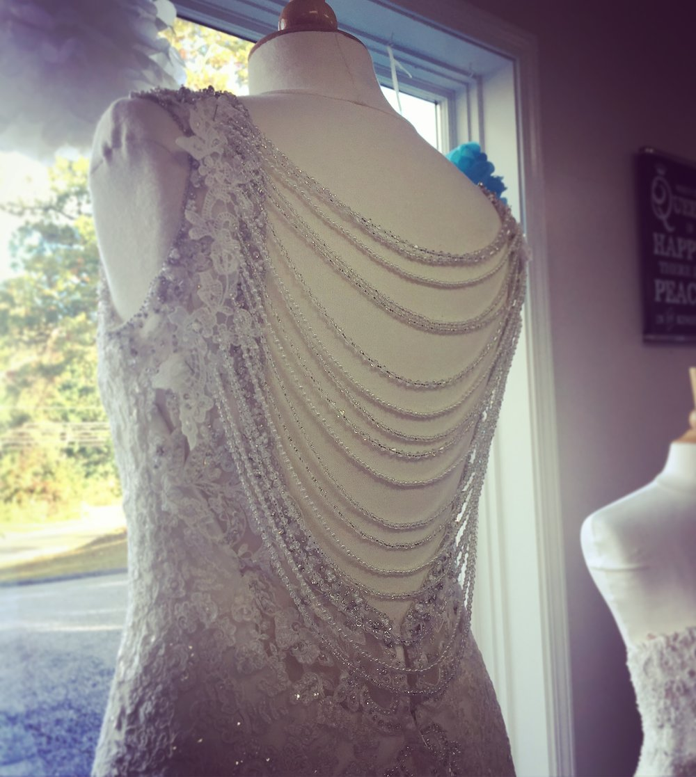 Beaded back piece