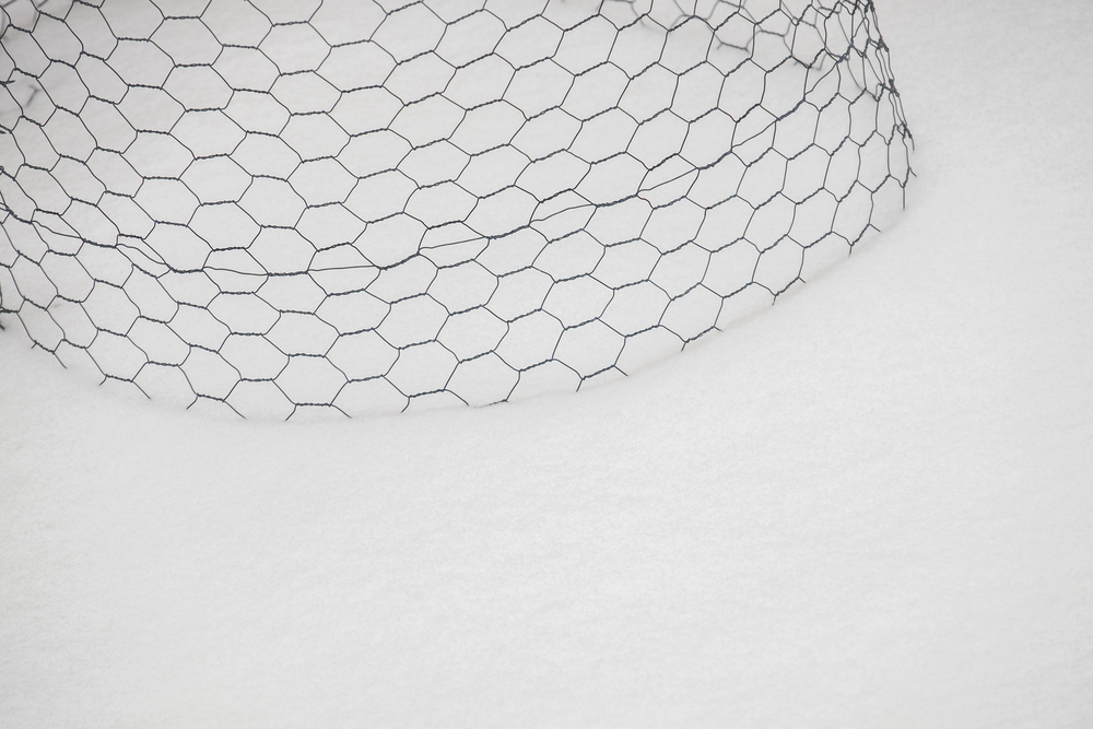 mesh wire on snow