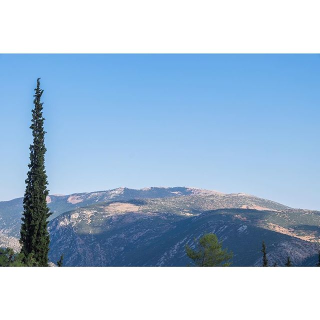 Standing Tall -- #greece #landscape #sky
