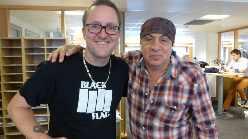 Little Steven på besøk hos Guttorm i musikkprogrammet hans på NRK P13.