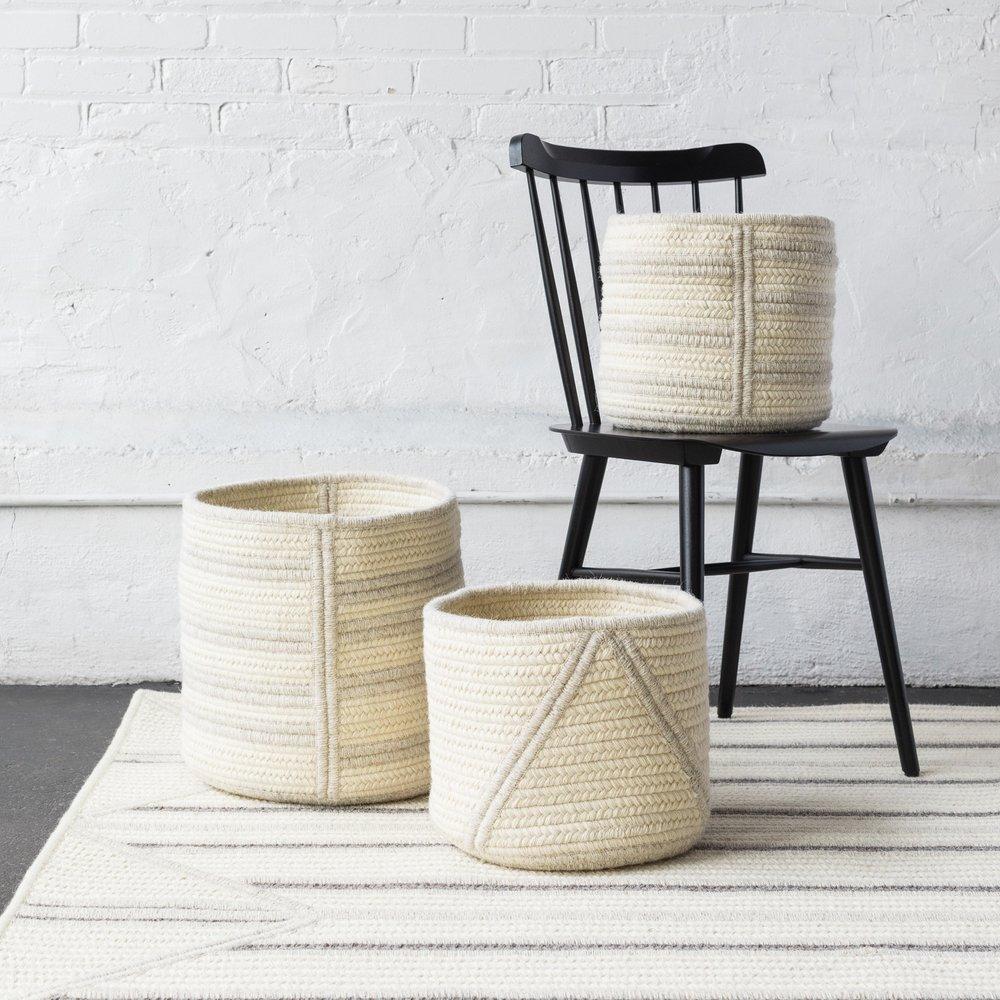 Thayer Design studio spring '17 textured baskets