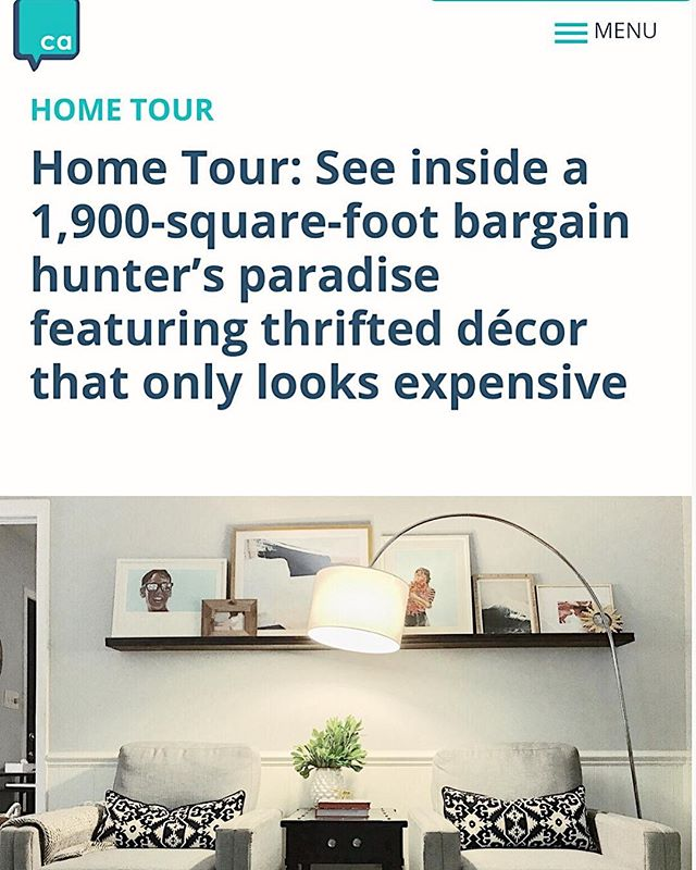Lots of love to the @charlotteagenda for featuring our home on their Home Tour series. It's so fun to see our house through someone else's eyes and I'm feeling lots of gratitude for the opportunities my little hobby has afforded us. Check it out through the link in my profile ❤️