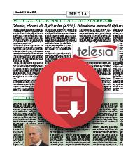21 marzo 2018  Telesia aumenta ricavi (+9%) e profitti (+187%)