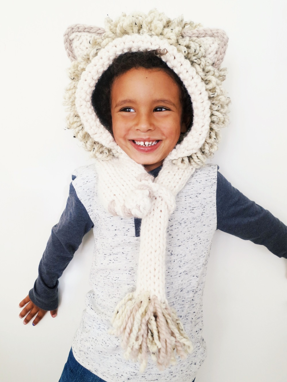 Leroy the Lion Hood Pattern — Two of Wands