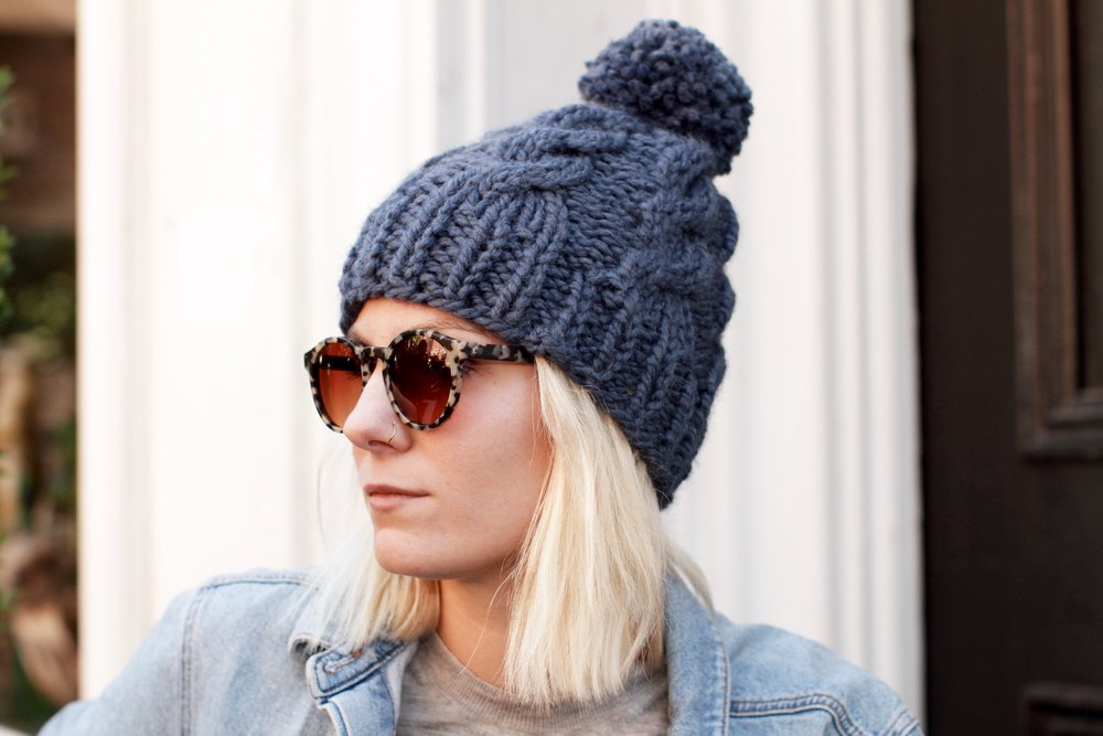 Chalet Cable Toque Pattern — Two of Wands