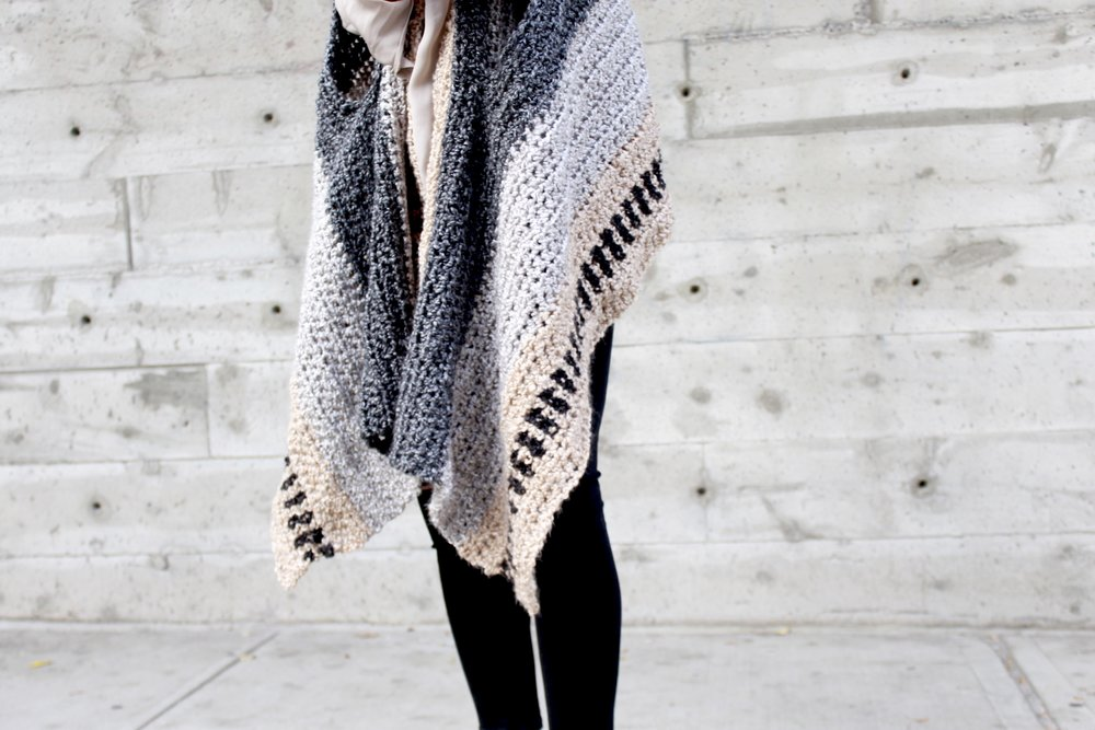 Saddlebrook Cape Scarf Pattern by Two of Wands