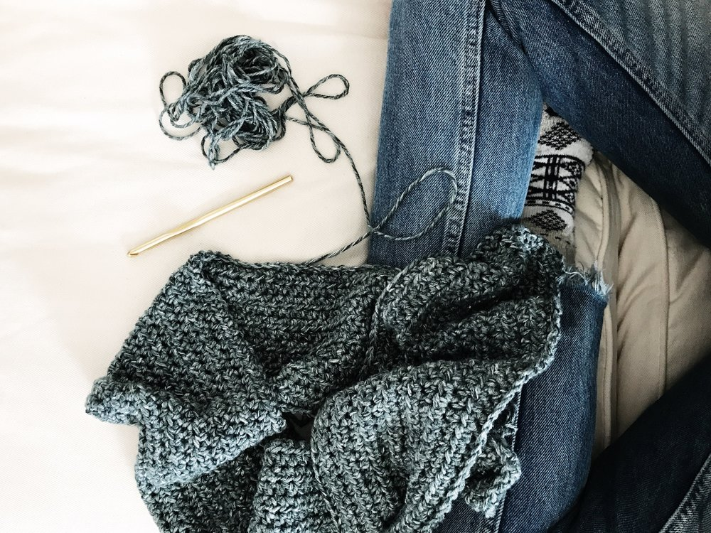 Shades Of Indigo Poncho Two Of Wands