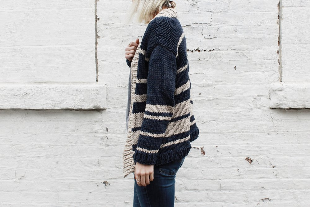 Oxford Boyfriend Cardigan Pattern by Two of Wands