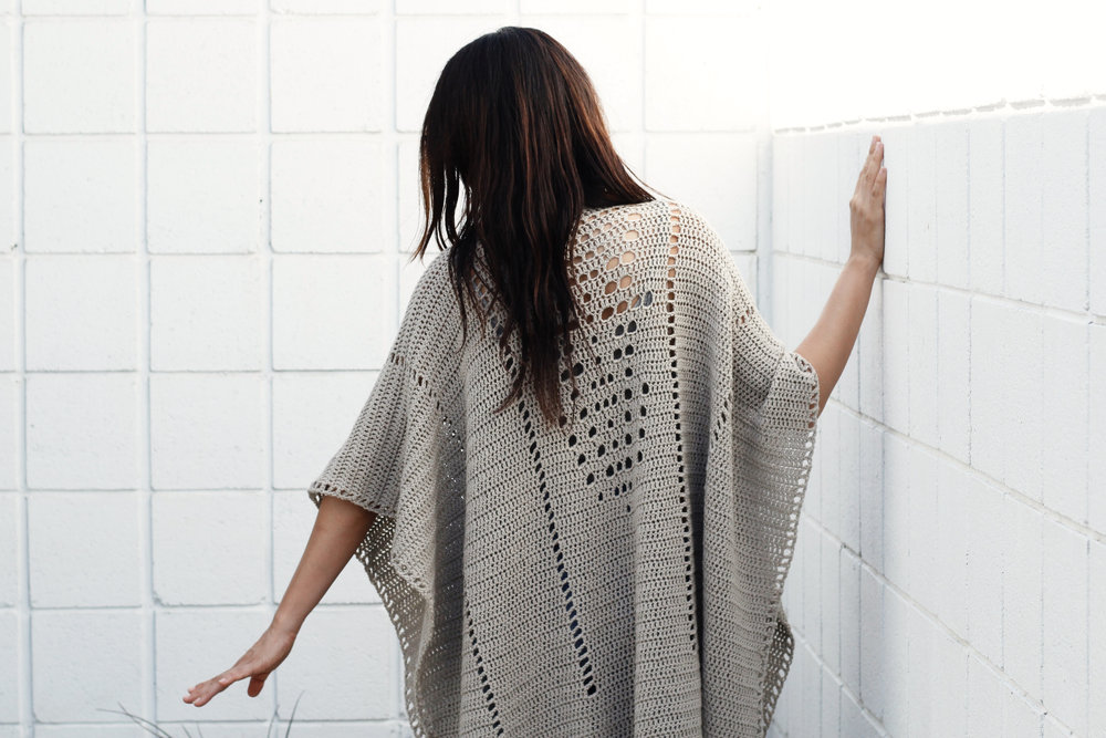 Cross Country Poncho Pattern by Two of Wands