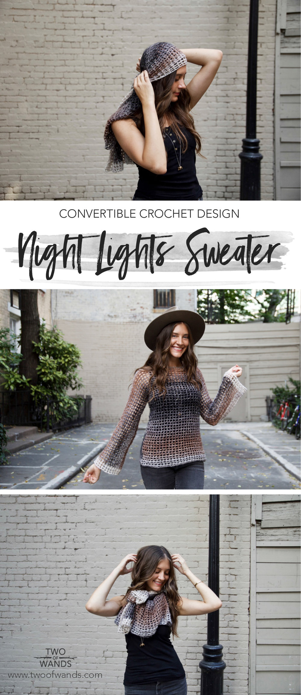 Night Lights Sweater by Two of Wands