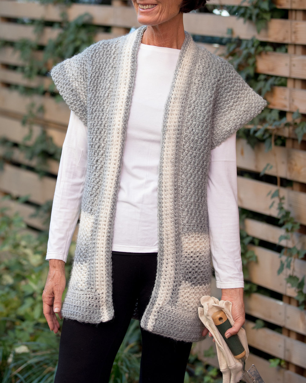 Mama In A Stitch Faded Mist Topper Cardigan