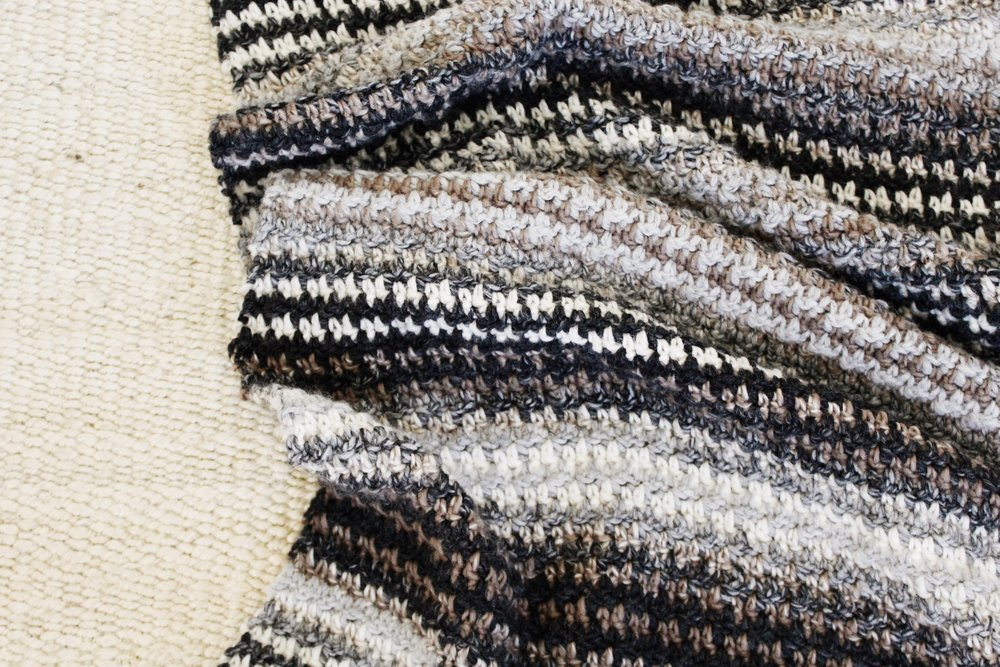 Houndstooth Cabin Throw pattern