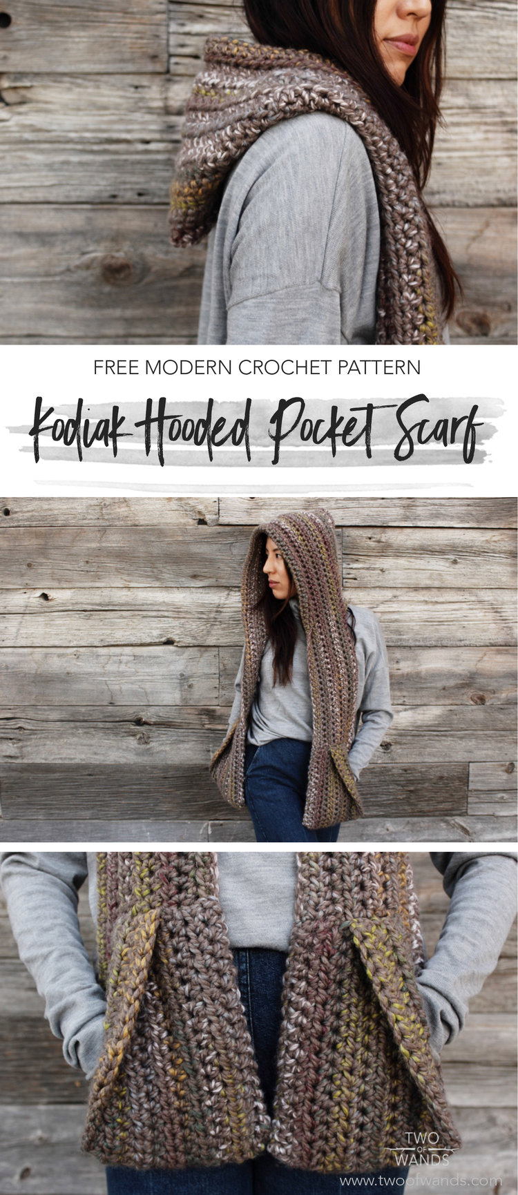 Kodiak Hooded Pocket Scarf Two Of Wands