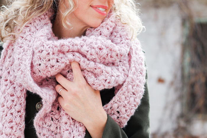 At First Blush Triangle Scarf by Make & Do Crew