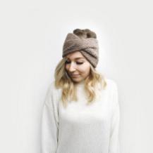Roseaux Turban Headband by DeBrosse NYC