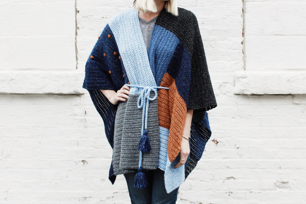 Shades of Indigo Poncho