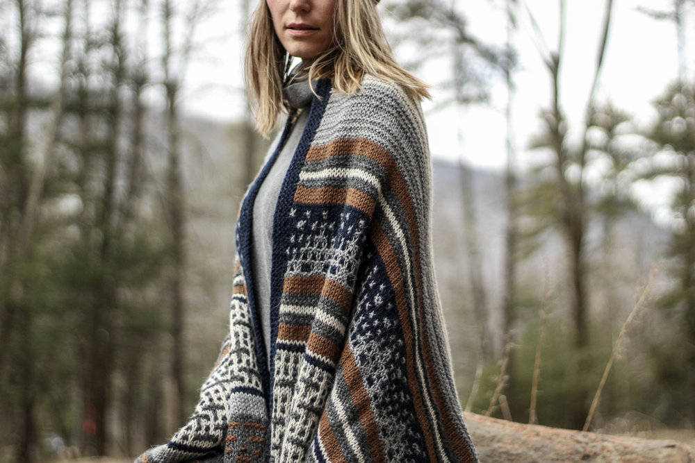 Coast to Coast Wrap pattern by Two of Wands