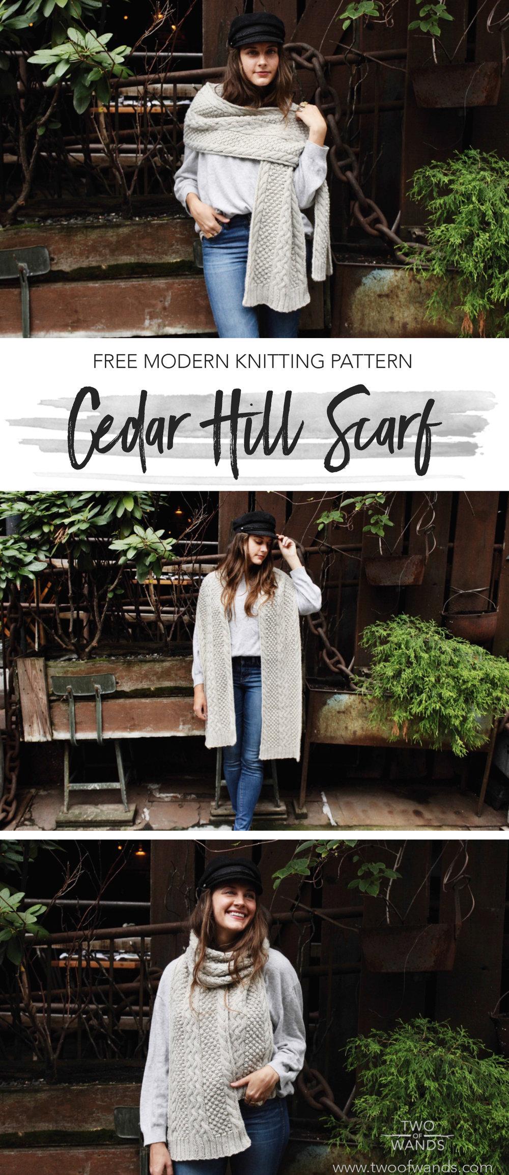 Cedar Hill Scarf pattern by Two of Wands