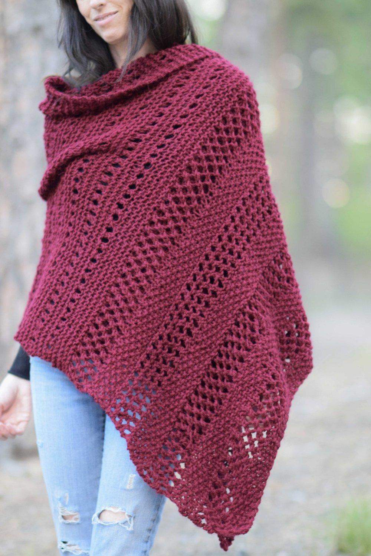 Merlot Alpaca Wrap by Mama in a Stitch