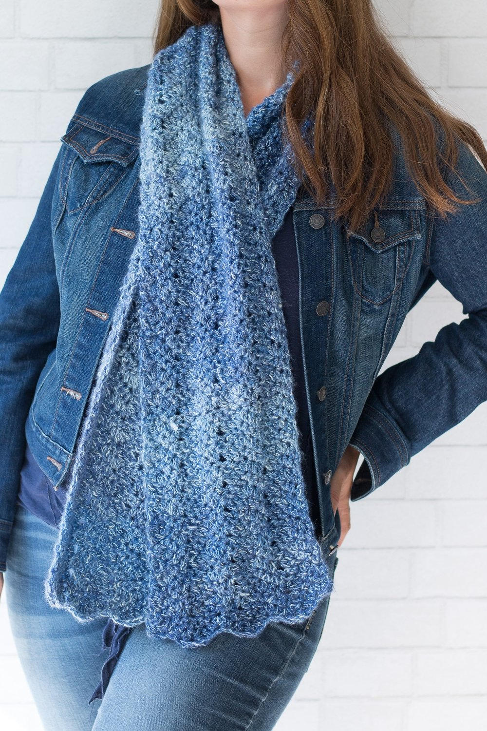 Luna Chevron Scarf by Rescued Paw Designs