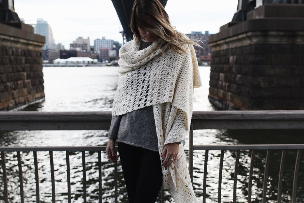 Snowfall on the Bowery Wrap Pattern by Two of Wands