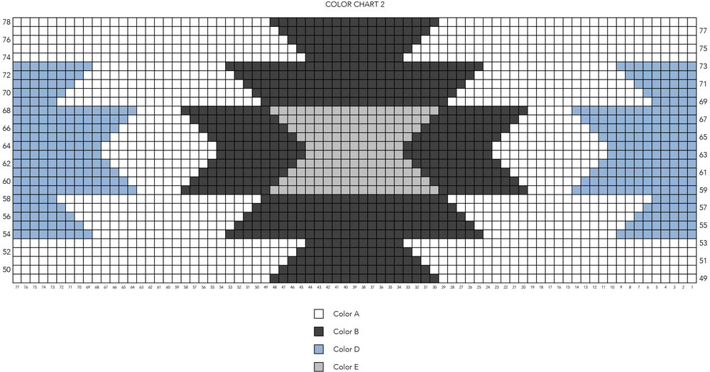 Taos Lap Blanket Chart 2 by Two of Wands