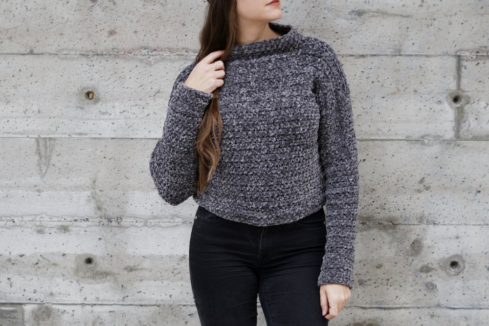 Empire Crop sweater pattern by Two of Wands