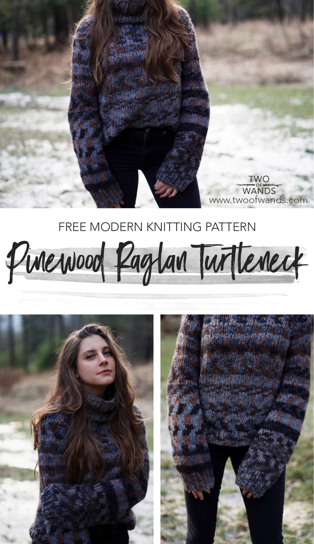 fb47f37330c6c8 Pinewood Raglan Turtleneck pattern by Two of Wands
