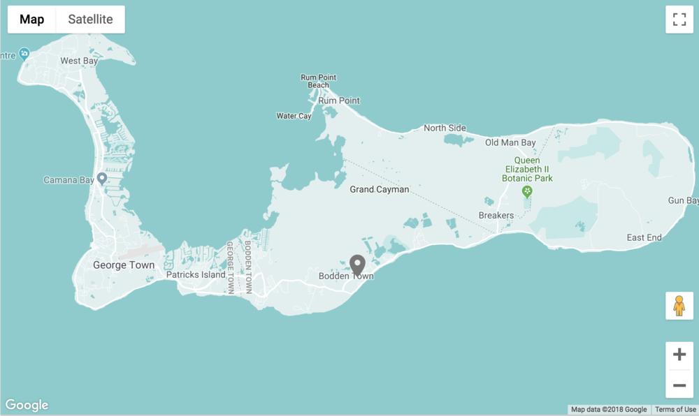 Bodden Town Map