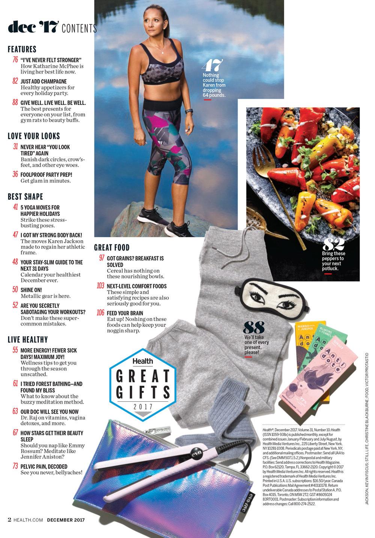 Karen Jackson for Health Magazine