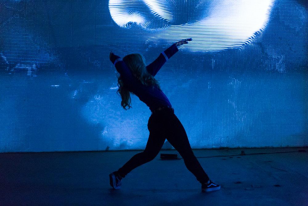 Kara Dancing with Ecco Screen
