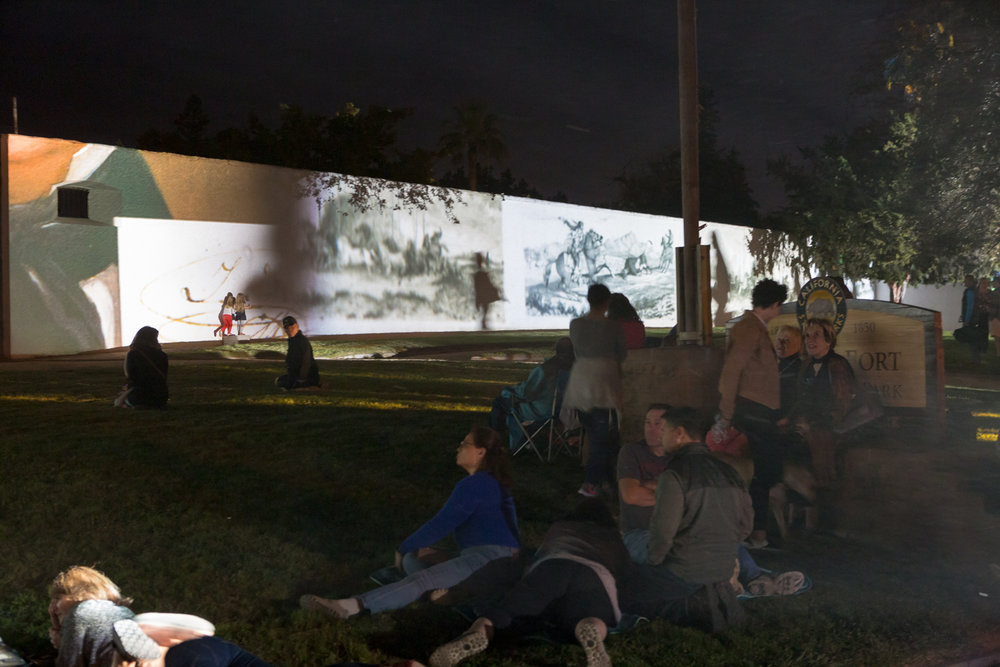 Light Show at Sutter's Fort in Sacramento by Swiss Artist Gerry Hofstetter