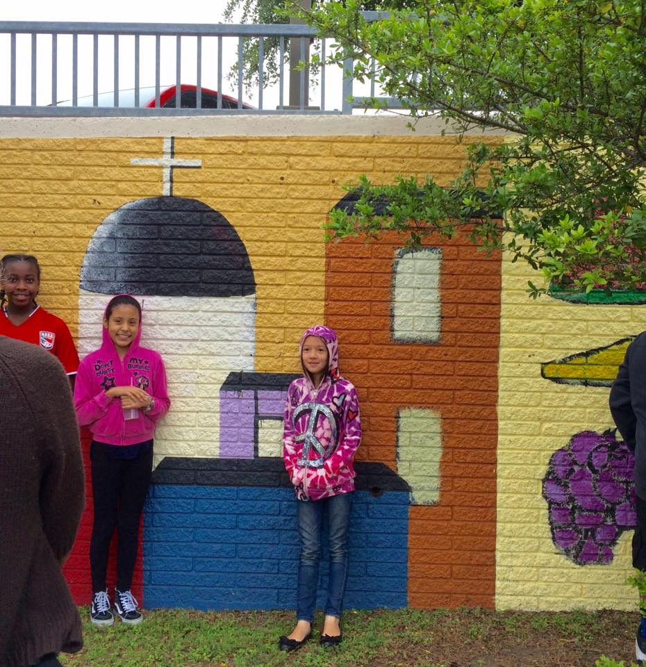 Mural content was inspired by local history and culture