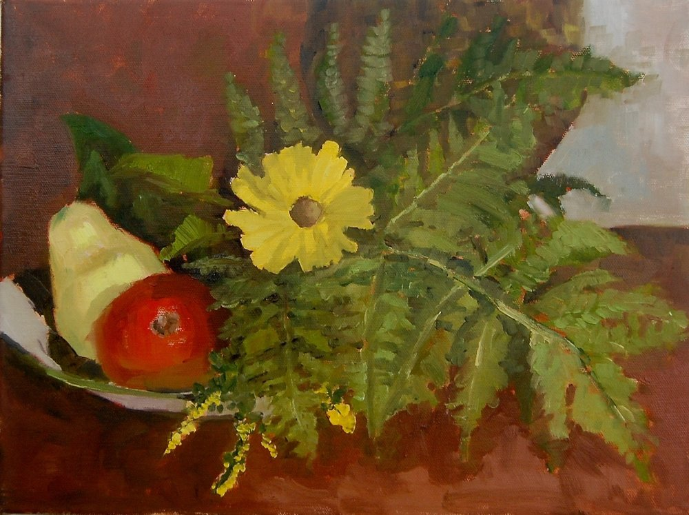 "Fall Bounty   oil in canvas  11""x14"""