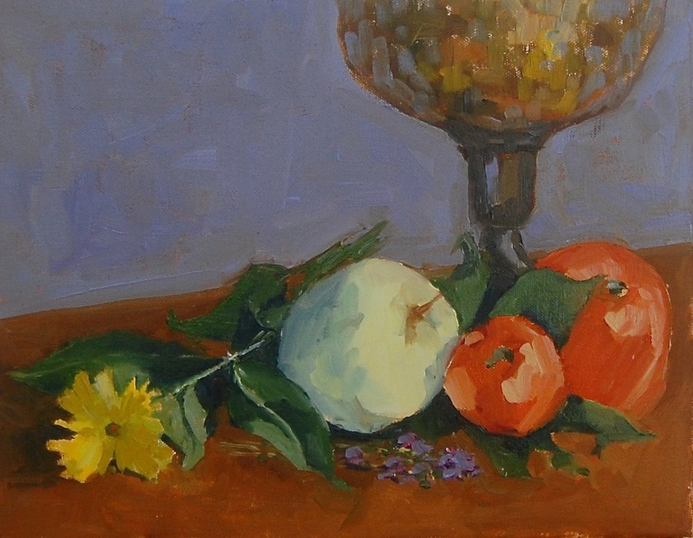Study for Still Life   oil on canvas  11' x 14""
