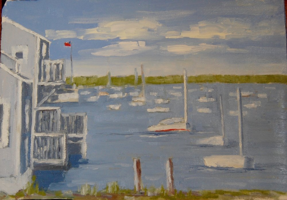 "Harbor View   oil on canvas  11"" x 14"""