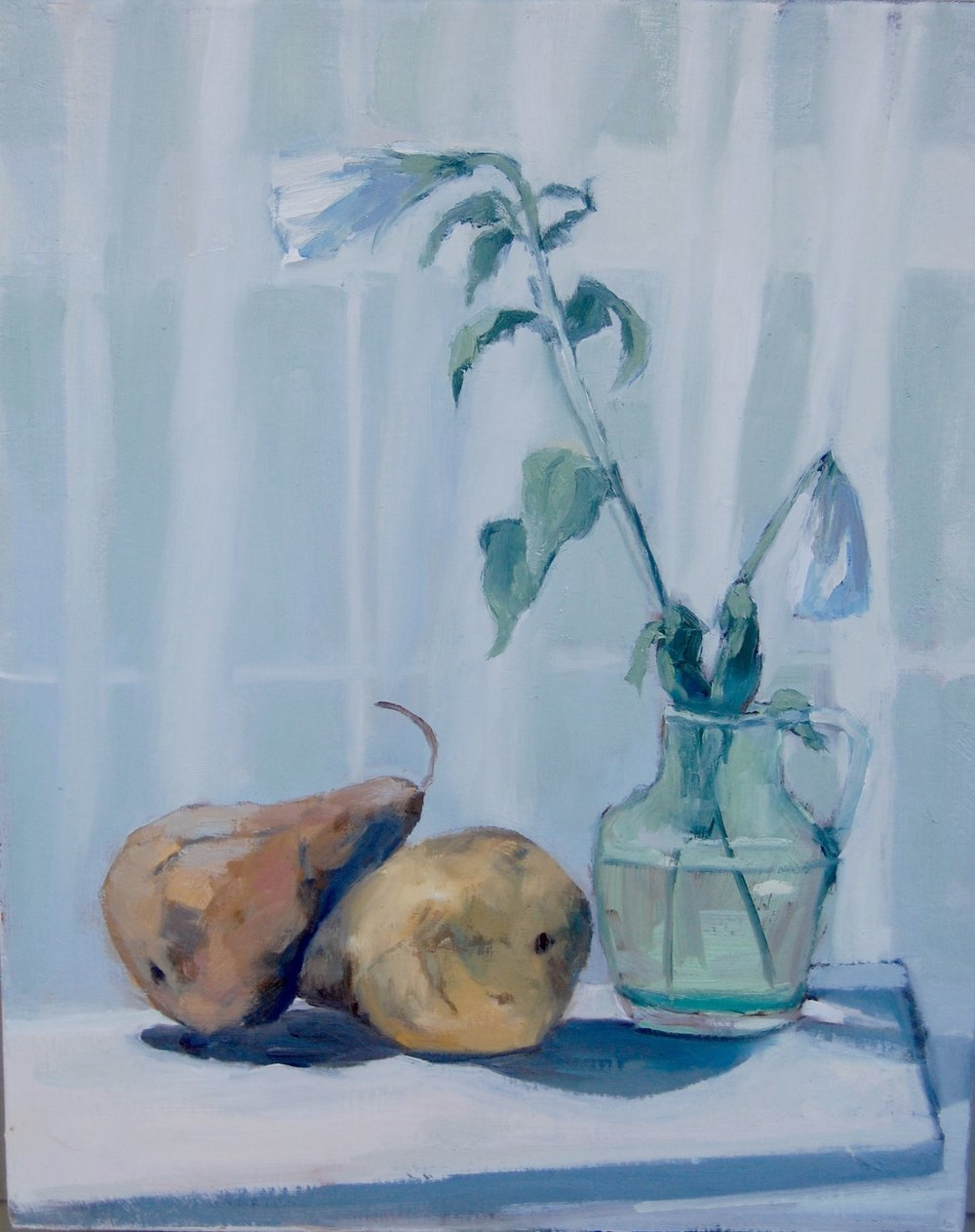"Painting of Pears   oil on canvas  20""x 16"""