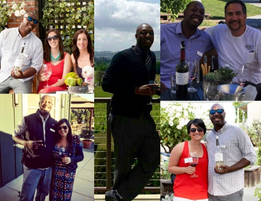 Middle photo: 2010 Hunter's first Napa wine tasting four months after being hired at Oak Ridge. Other four photos: Hunter's many friends that he has made since changing his career to the wine industry and moving to Napa.