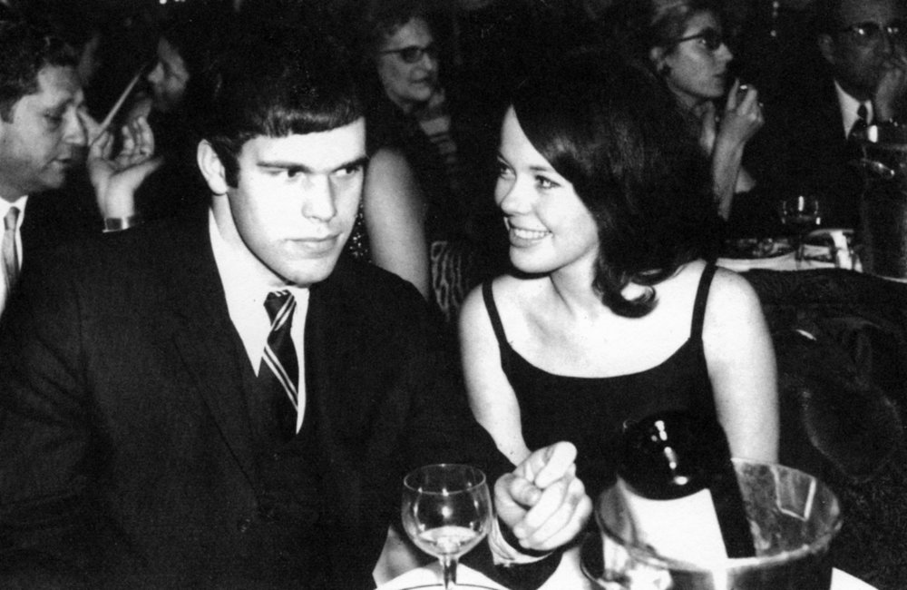 RMP with future wife, Pat Etzel, Maxim's, Paris, December 31, 1967