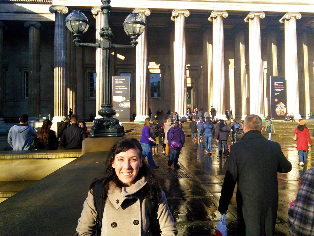 In front of the British Museum.