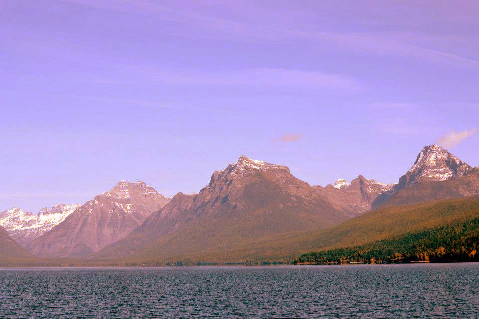 The waters of Lake McDonald