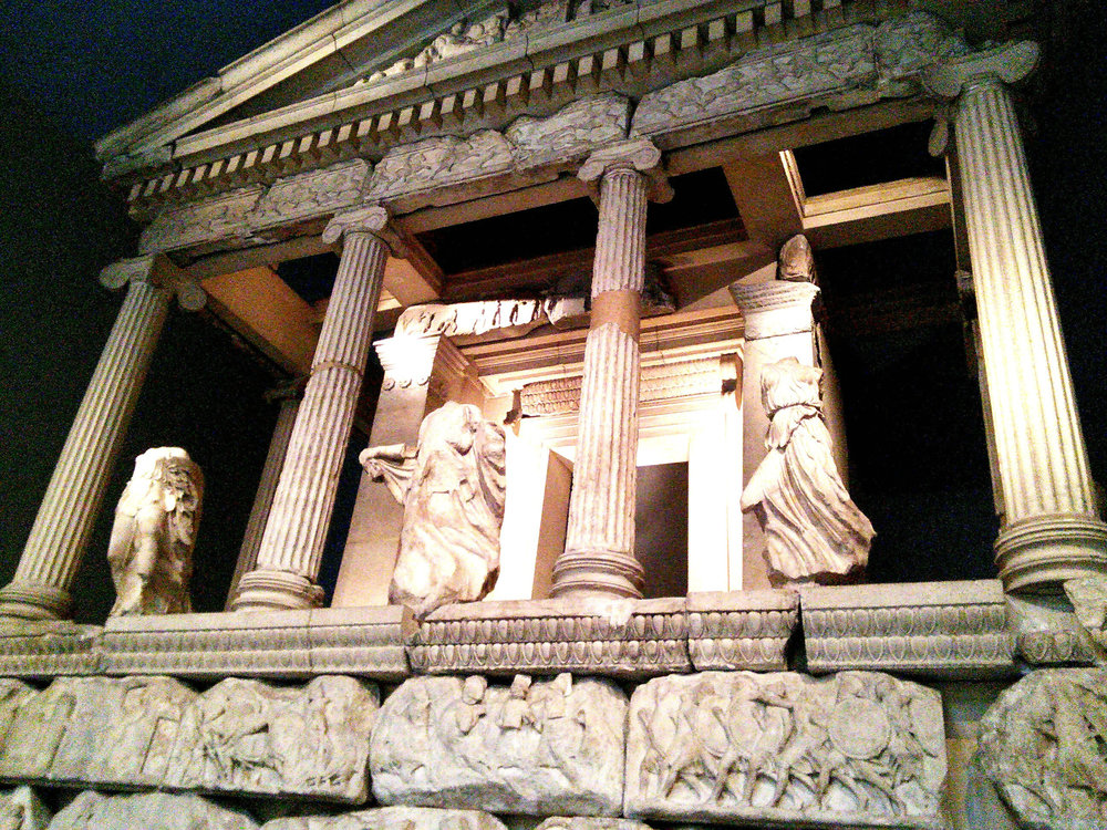 Façade replica of the Nereid Monument in Turkey.
