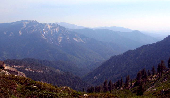 The view from Panther Gap.