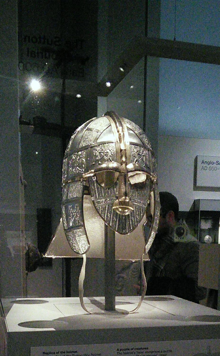 Replica of rare Saxon helmet from the Sutton Hoo burial