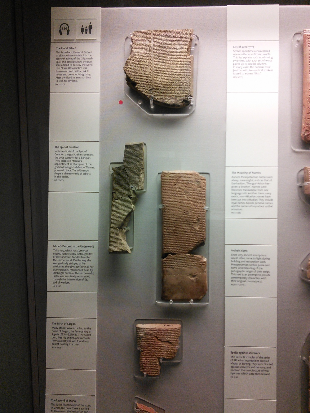 Tablets on Gilgamesh, how to read tablets, and a thesaurus