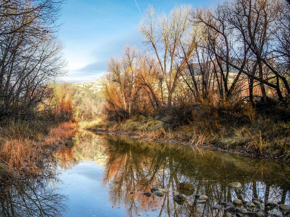 Sespe Creek before the rains a week ago.