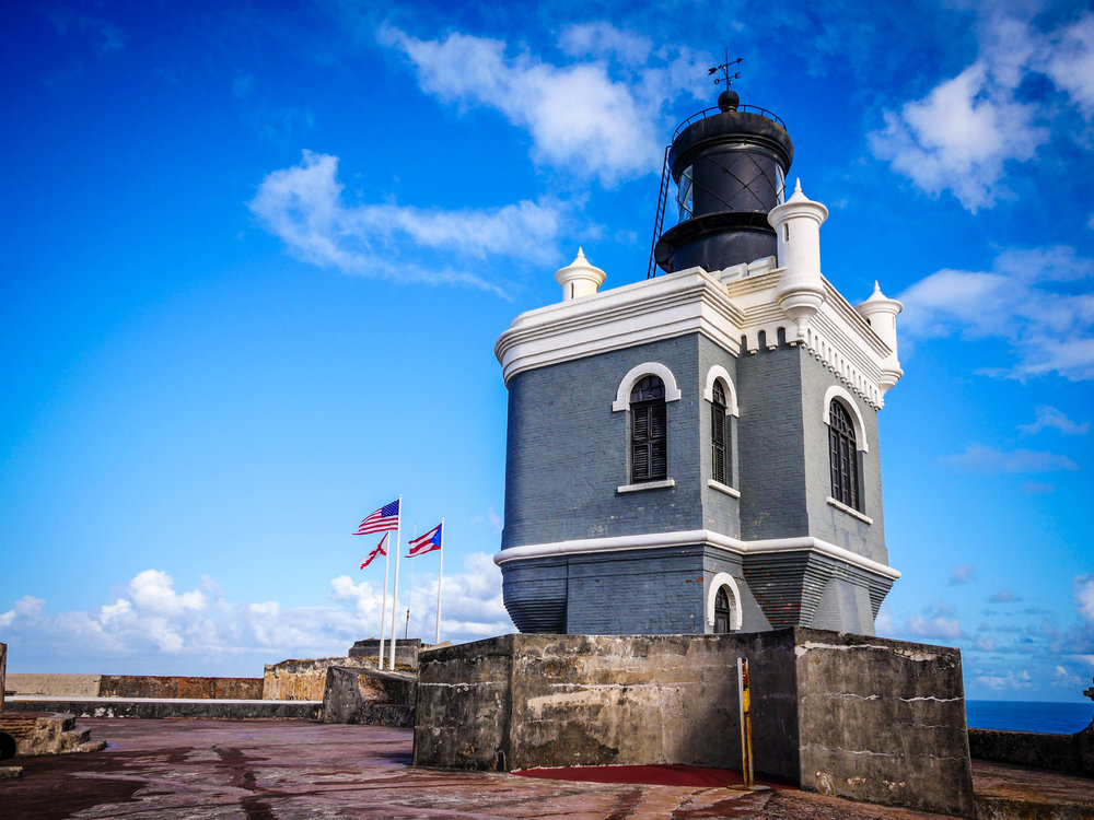 The lighthouse at El Morro.