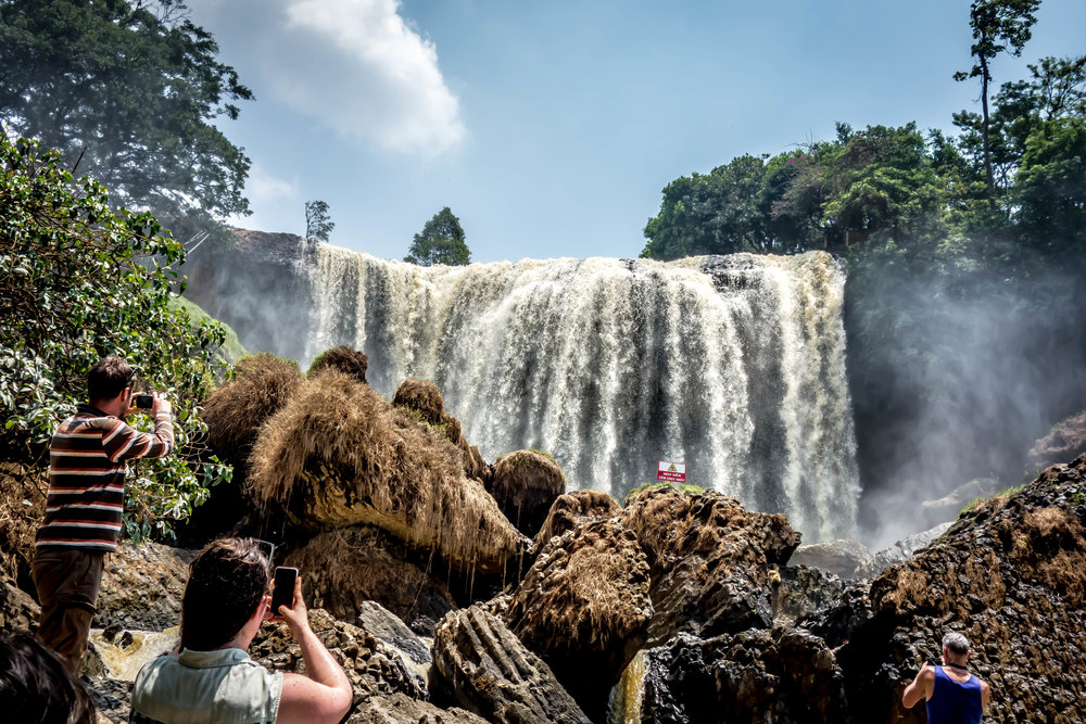 Elephant falls outside of Da Lat, Vietnam