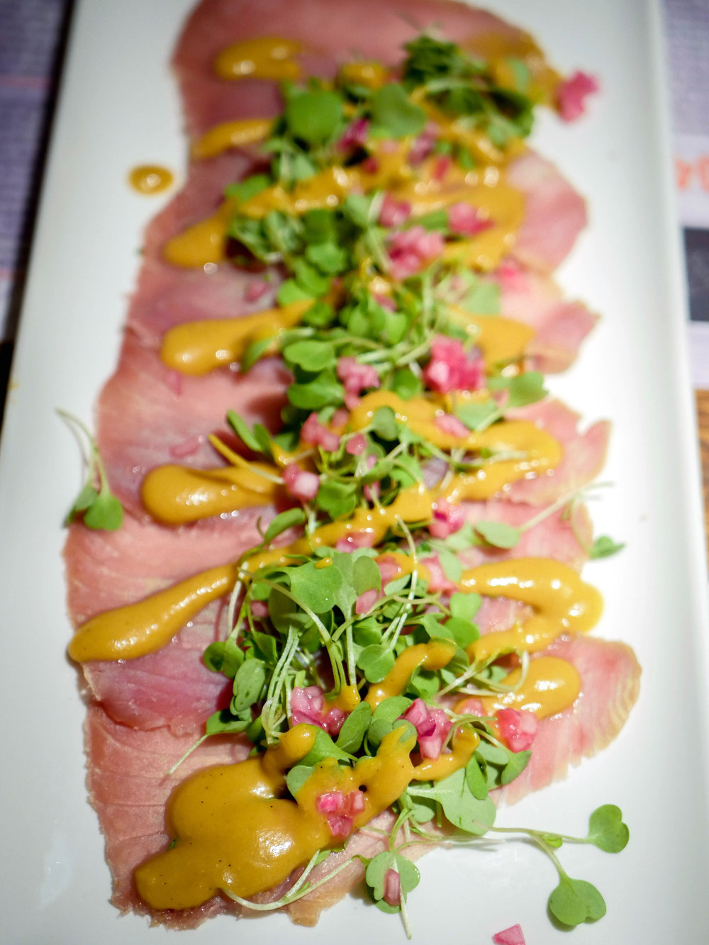 Tuna prosciutto at Mali Bar.