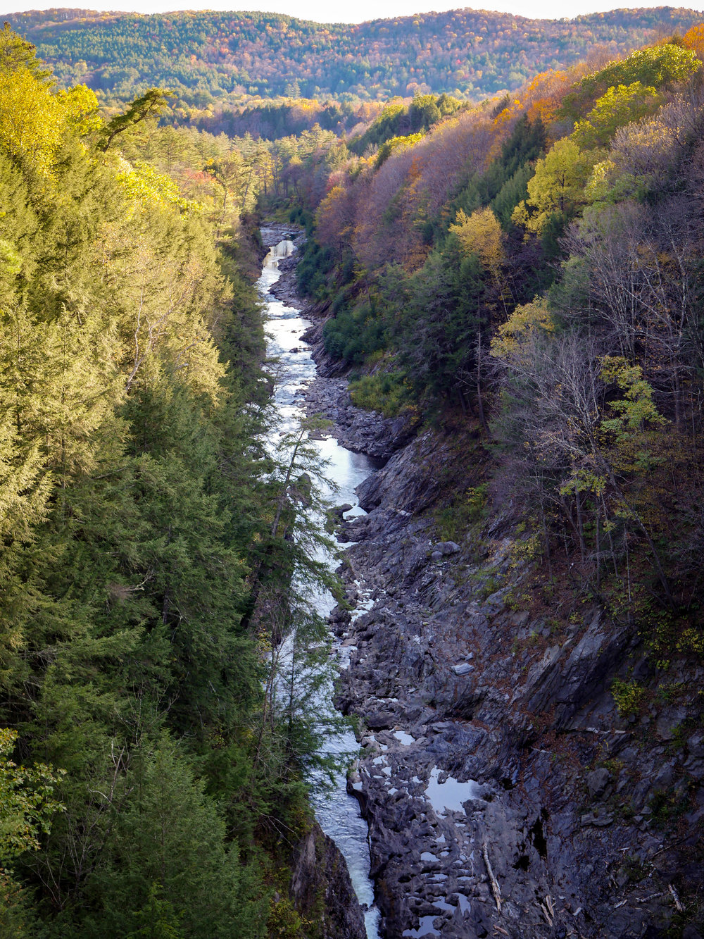 The Quechee Gorge and fall foliage